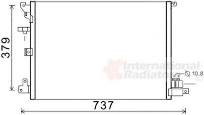Condenseur, climatisation - VAN WEZEL - 59005152