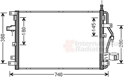 Condenseur, climatisation - VAN WEZEL - 59005158