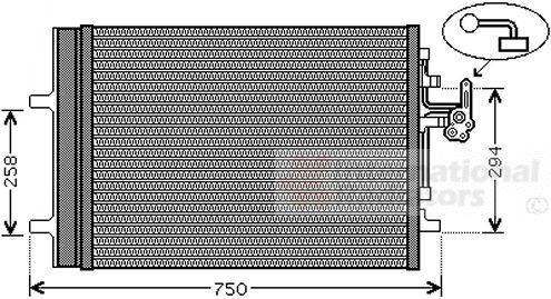 Condenseur, climatisation - VAN WEZEL - 59005161