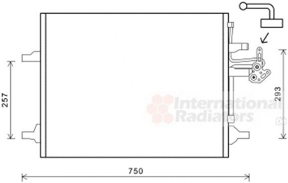 Condenseur, climatisation - VAN WEZEL - 59005166