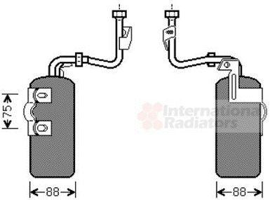 Filtre déshydratant, climatisation - VAN WEZEL - 5900D165