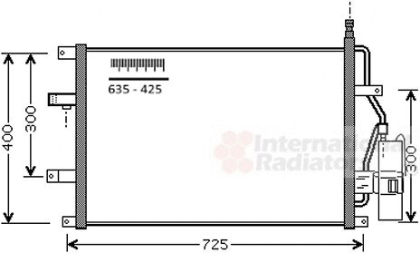 Condenseur, climatisation - VAN WEZEL - 59015107