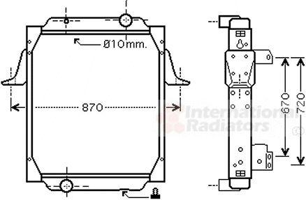 Radiateur, refroidissement du moteur - VAN WEZEL - 67002066