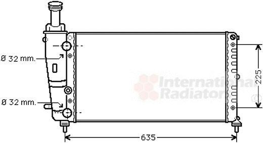 Radiateur, refroidissement du moteur - VAN WEZEL - 73002067
