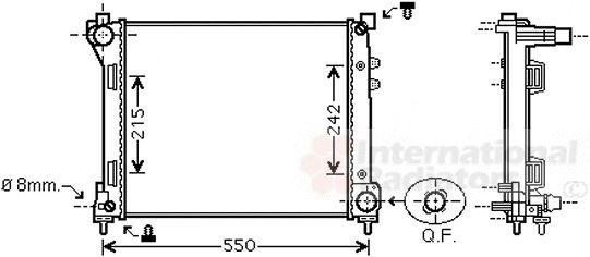 Radiateur, refroidissement du moteur - VAN WEZEL - 73002098