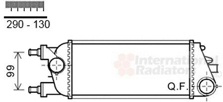 Intercooler, échangeur - VAN WEZEL - 73004100
