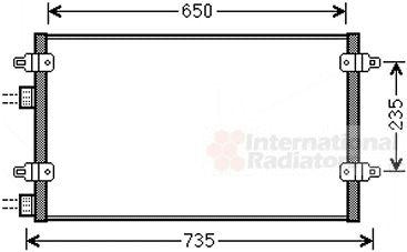 Condenseur, climatisation - VAN WEZEL - 73005094
