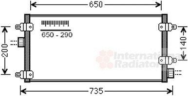 Condenseur, climatisation - VAN WEZEL - 73005095