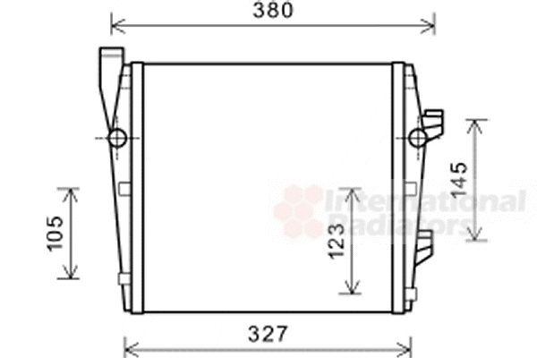 Radiateur, refroidissement du moteur - VAN WEZEL - 74002066