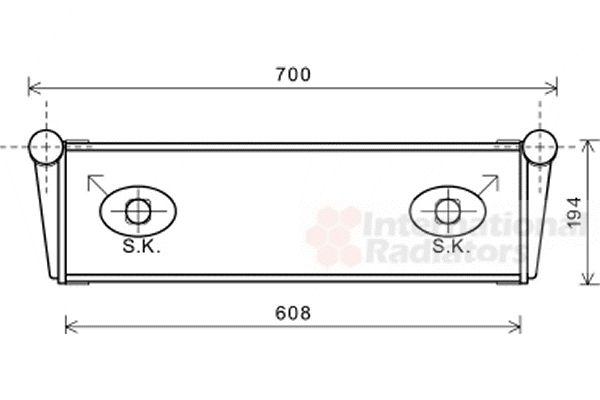 Radiateur, refroidissement du moteur - VAN WEZEL - 74002067
