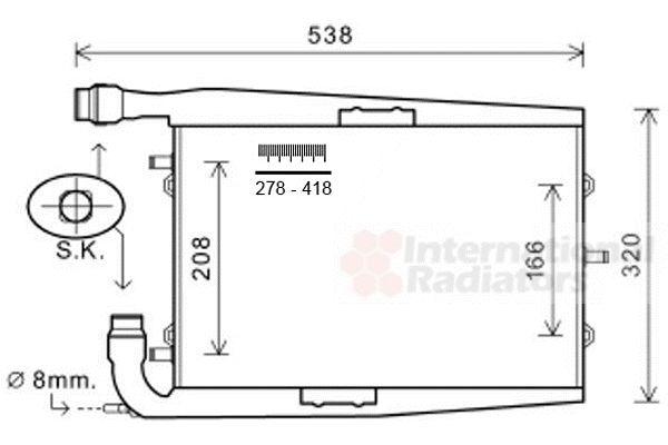 Radiateur, refroidissement du moteur - VAN WEZEL - 74002073