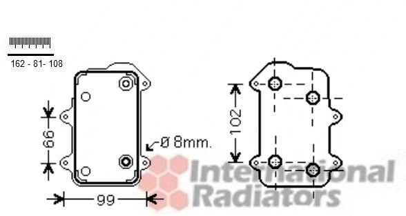 Radiateur d'huile - VAN WEZEL - 74003063