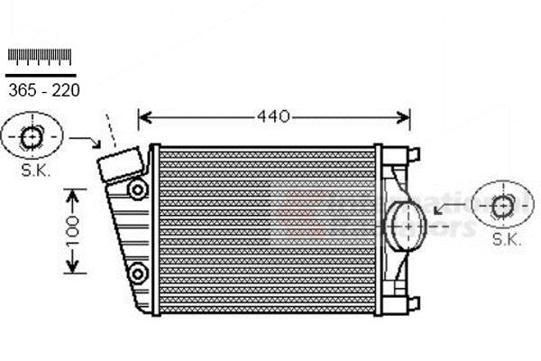 Intercooler, échangeur - VAN WEZEL - 74004070