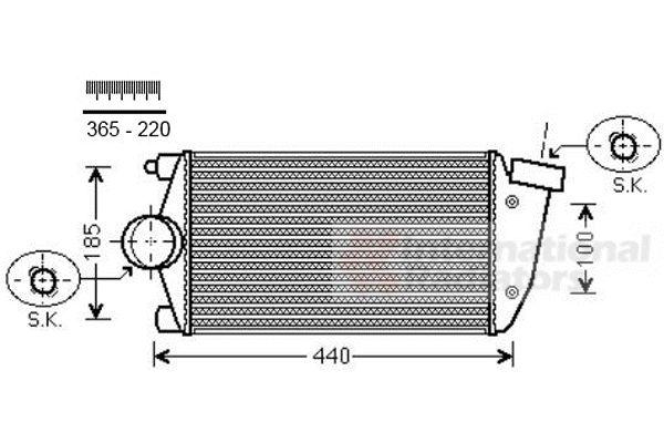 Intercooler, échangeur - VAN WEZEL - 74004071
