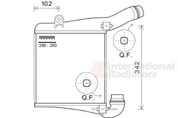 Intercooler, échangeur - VAN WEZEL - 74004077