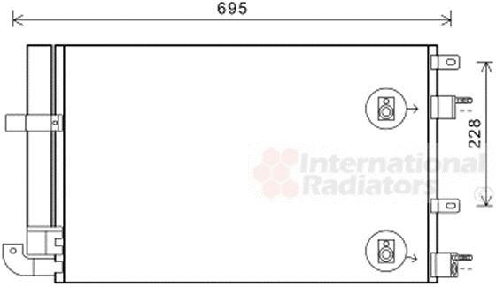 Condenseur, climatisation - VAN WEZEL - 77005050