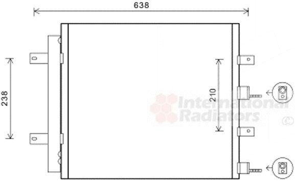 Condenseur, climatisation - VAN WEZEL - 77005051