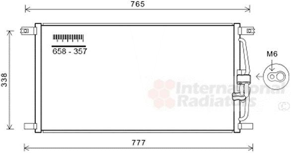 Condenseur, climatisation - VAN WEZEL - 77005052