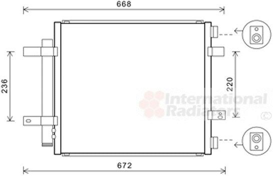 Condenseur, climatisation - VAN WEZEL - 77005053