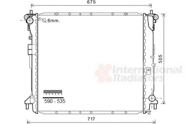 Radiateur, refroidissement du moteur - VAN WEZEL - 81002103