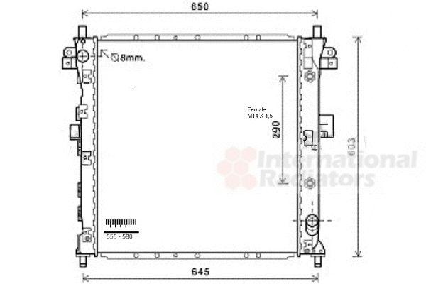 Radiateur, refroidissement du moteur - VAN WEZEL - 81002105