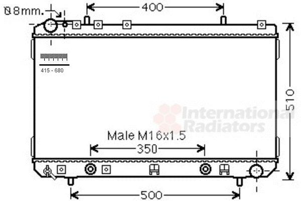 Radiateur, refroidissement du moteur - VAN WEZEL - 81002107
