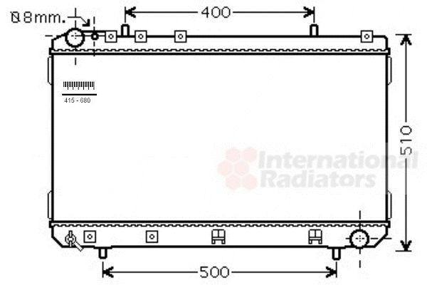 Radiateur, refroidissement du moteur - VAN WEZEL - 81002109