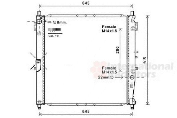 Radiateur, refroidissement du moteur - VAN WEZEL - 81002119