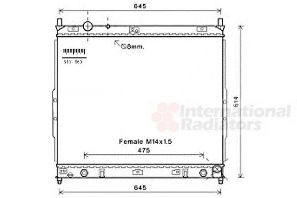 Radiateur, refroidissement du moteur - VAN WEZEL - 81002121