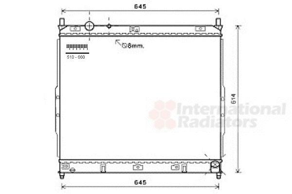 Radiateur, refroidissement du moteur - VAN WEZEL - 81002122