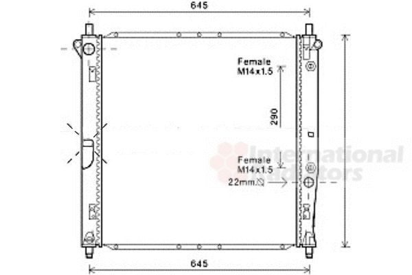 Radiateur, refroidissement du moteur - VAN WEZEL - 81002125