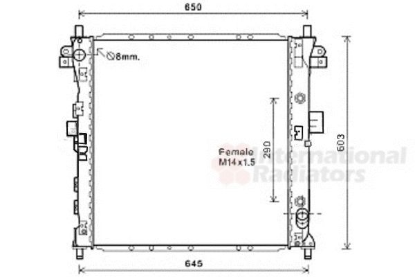 Radiateur, refroidissement du moteur - VAN WEZEL - 81002131