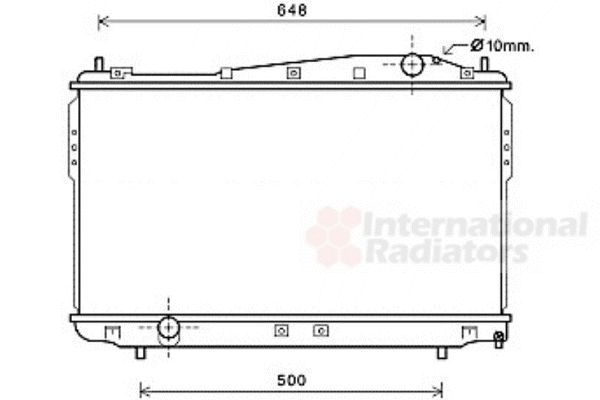 Radiateur, refroidissement du moteur - VAN WEZEL - 81002136