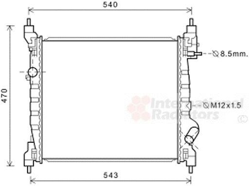 Radiateur, refroidissement du moteur - VAN WEZEL - 81002141