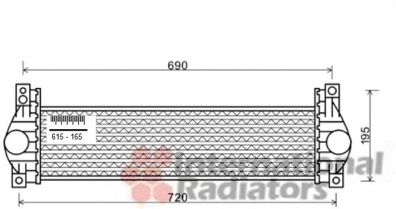 Intercooler, échangeur - VAN WEZEL - 81004093