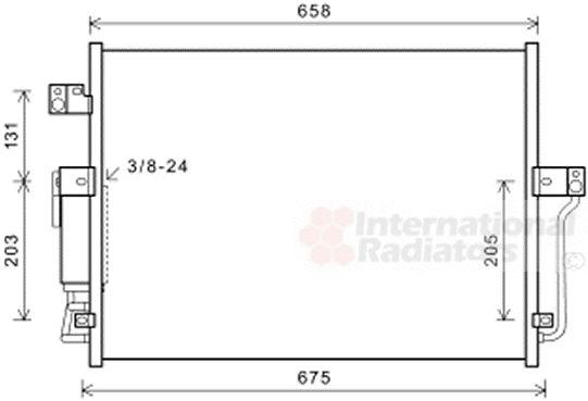 Condenseur, climatisation - VAN WEZEL - 81005118