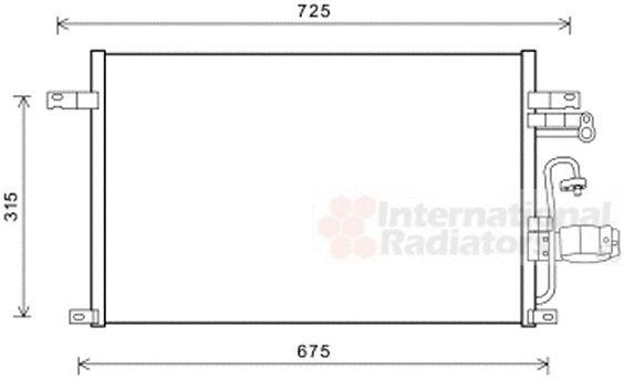 Condenseur, climatisation - VAN WEZEL - 81005137