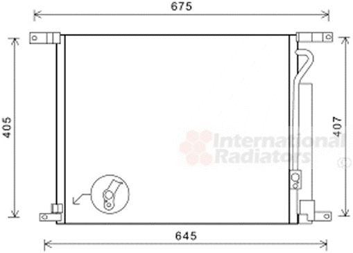 Condenseur, climatisation - VAN WEZEL - 81005139