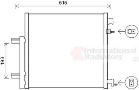 Condenseur, climatisation - VAN WEZEL - 81005140