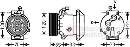 Compresseur, climatisation - VAN WEZEL - 8100K095