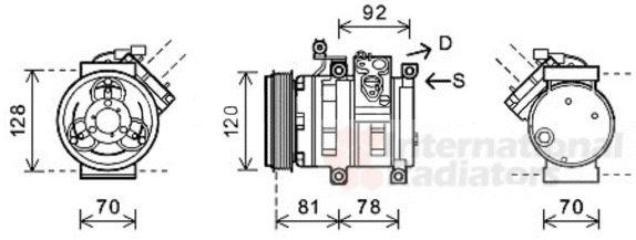 Compresseur, climatisation - VWA - 88VWA8100K099