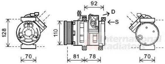 Compresseur, climatisation - VAN WEZEL - 8100K100