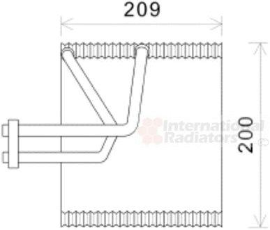 Evaporateur climatisation - VAN WEZEL - 8100V045