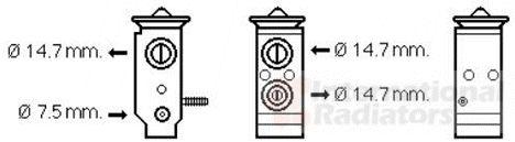 Détendeur, climatisation - VAN WEZEL - 82001292