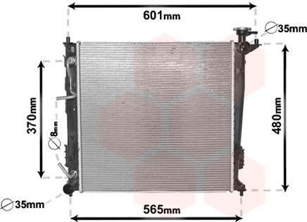 Radiateur, refroidissement du moteur - VAN WEZEL - 82002214