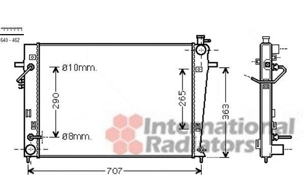 Radiateur, refroidissement du moteur - VAN WEZEL - 82002247