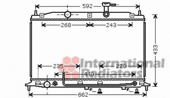 Radiateur, refroidissement du moteur - VAN WEZEL - 82002252