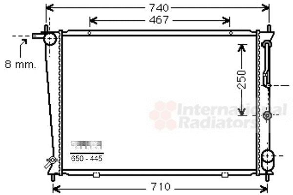 Radiateur, refroidissement du moteur - VAN WEZEL - 82002255