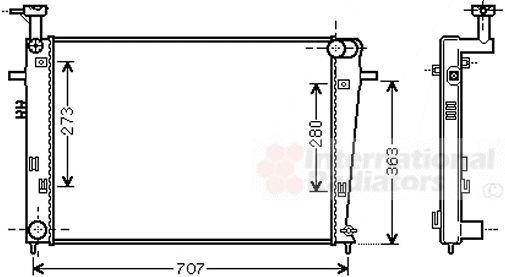 Radiateur, refroidissement du moteur - VAN WEZEL - 82002275