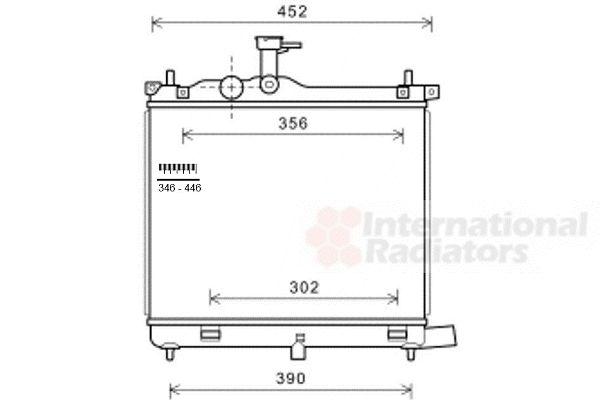 Radiateur, refroidissement du moteur - VAN WEZEL - 82002290